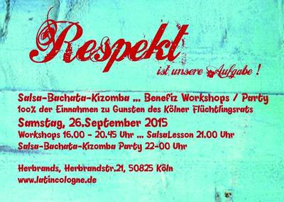 Flyer zur Benefiz-Party im Herbrand's am 26.9.15. Bildquelle: Gerd Hönig